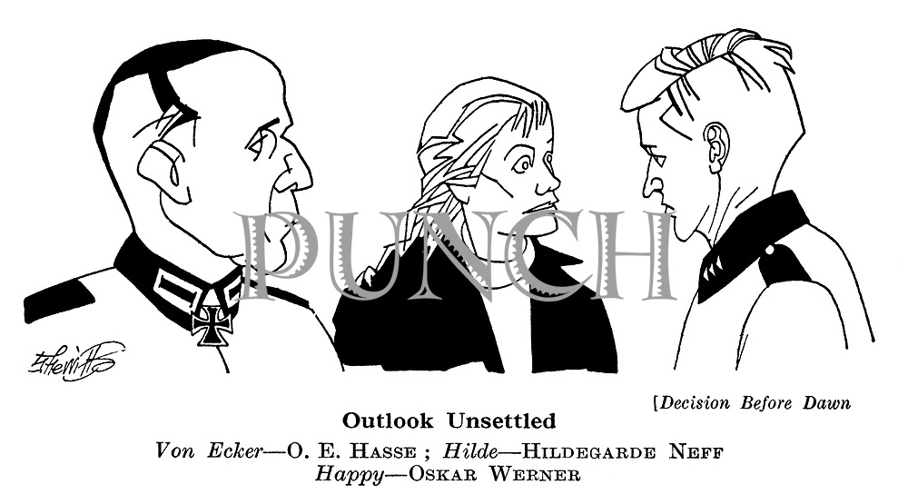 Decision Before Dawn : Hildegarde Neff , OE Hasse and Oskar Werner