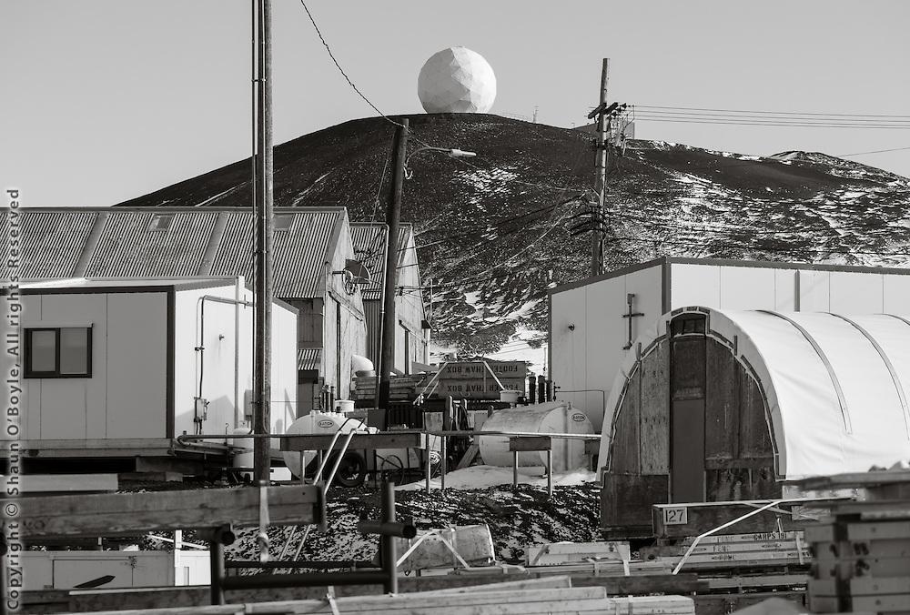 Radar Sat dome and buildings.