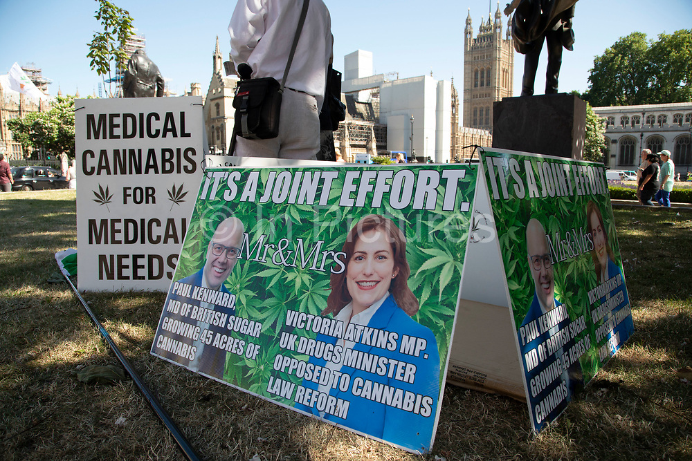 Protest in favour of legalising cannabis in London, United Kingdom.