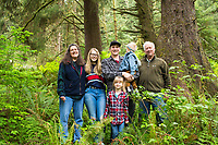 Portrait of Neal Maine and his family. Circle Creek, Seaside, Oregon.