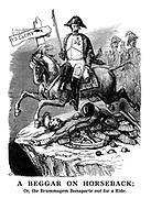 A Beggar on Horseback; Or, the Brummagem Bonaparte out for a Ride.