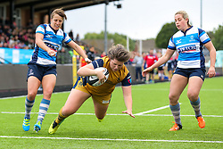 Sasha Acheson of Bristol Ladies scores a try - Rogan Thomson/JMP - 08/10/2016 - RUGBY UNION - Kingston Park - Newcastle, England - Darlington Mowden Park Sharks v Bristol Ladies Rugby - RFU Women's Premiership.