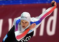 Skøyter: Verdenscup Heerenveen 12.01.2002. Pål Gravem fra Norge - 500 meter gruppe B.<br /><br />Foto: Ronald Hoogendoorn, Digitalsport