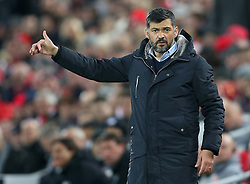March 6, 2018 - Liverpool, U.S. - 6th March 2018, Anfield, Liverpool, England; UEFA Champions League football, round of 16, 2nd leg, Liverpool versus FC Porto; Sergio Conceicao, Porto manager directs his players from the technical area (Photo by Dave Blunsden/Actionplus/Icon Sportswire) ****NO AGENTS---NORTH AND SOUTH AMERICA SALES ONLY****NO AGENTS---NORTH AND SOUTH AMERICA SALES ONLY* (Credit Image: © Dave Blunsden/Icon SMI via ZUMA Press)