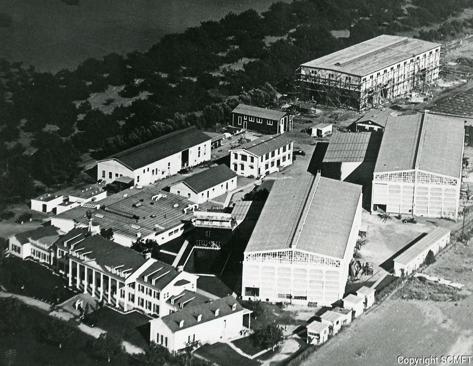 1919 Aerial of Thomas Ince's second studio in Culver City, CA