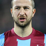 Trabzonspor's Remzi Giray Kacar during their Turkish superleague soccer derby match Trabzonspor between Besiktas at the Avni Aker Stadium in Trabzon Turkey on Sunday, 27 November 2011. Photo by TURKPIX