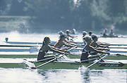 Milan ITALY,  General View of the BLW2X. Christina CLINTON, <br /> and Dana REMUS, competing in the 1997 Nations Cup U23  World Rowing Championships. Course, Idra Scala. Province of Milan.<br /> <br /> [Mandatory Credit; Peter Spurrier/Intersport-images] 1997 U23 Nations Cup U23 Championships. Milan Italy