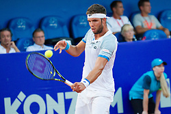 Jiri Vesely (CZE) during a tennis match against the Fabio Fognini (ITA) in Qualification round of singles at 26. Konzum Croatia Open Umag 2015, on July 20, 2015, in Umag, Croatia. Ptoto by Urban Urbanc / Sportida