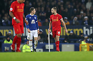 Ross Barkley of Everton and Jordan Henderson of Liverpool  during the English Premier League match at Goodison Park, Liverpool. Picture date: December 19th, 2016. Photo credit should read: Lynne Cameron/Sportimage