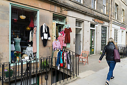 Vintage and second hand shop in Stockbridge , Edinburgh, Scotland, United Kingdom