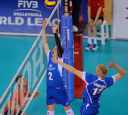 20150614 NED: World League Nederland - Finland, Almere<br /> Eemi Tervaportti #2, Sauli Sinkkonen #11