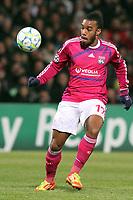 FOOTBALL - UEFA CHAMPIONS LEAGUE 2011/2012 - 1/8 FINAL - 1ST LEG - OLYMPIQUE LYONNAIS v APOEL FC - 14/02/2012 - PHOTO EDDY LEMAISTRE / DPPI - ALEXANDRE LACAZETTE (OL)
