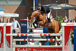 208 - Extase - Van Der Schans Patrick<br /> 5 Jarige Finale Springen<br /> KWPN Paardendagen - Ermelo 2014<br /> © Dirk Caremans