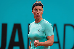 May 6, 2019 - Madrid, MADRID, SPAIN - Svetlana Kuznetsova of Russia in action during her second-round match at the 2019 Mutua Madrid Open WTA Premier Mandatory tennis tournament (Credit Image: © AFP7 via ZUMA Wire)