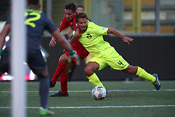 September 17, 2017 - Teramo, TE, Italy - Andrea Venturini of FC Ravenna Calcio stop the action of Ciro Foggia of Teramo Calcio 1913 during the Lega Pro 17/18 group B match between Teramo Calcio 1913 and Ravenna FC at Gaetano Bonolis stadium on September 17, 2017 in Teramo, Italy. (Credit Image: © Danilo Di Giovanni/NurPhoto via ZUMA Press)