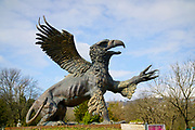 Griffin statue in a cemetery