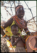 Samburu Mother and Child, Kenya, July, 2002