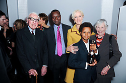 LAURA TENISON with husband, her son and her parents at the presentation of the Veuve Clicquot Business Woman Award 2010 held at the Institute of Contemporary Arts, 12 Carlton House Terrace, London on 23rd March 2010.  The winner was Laura Tenison - Founder and Managing Director of JoJo Maman Bebe.