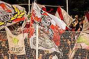 Bucaneers, fans of Rayo Vallecano, grandstands full of people