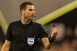 referee Georgi Kabakov during the UEFA Europa League third round qualifying first leg match between Vitesse Arnhem and FC Basel at the Gelredome on August 09, 2018 in Arnhem, The Netherlands
