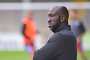 Doncaster Rovers Manager Darren Moore during the Pre-Season Friendly match between Scunthorpe United and Doncaster Rovers at Glanford Park, Scunthorpe, England on 15 August 2020.