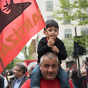 The annual May Day march and rally on May 1st, 2018 in London. Thousands of people joined in the London May Day March and Rally in Trafalgar square. Since 1890 May Day has been celebrated throughout the world as a day of working class solidarity. In many countries the events take place on May 1, but in Newcastle the march and rally has for many years been held on the Saturday of the early May bank holiday weekend.