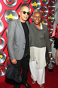 """September 18, 2012- Harlem, New York: (L-R) Designer Stephen Burroughs and Vogue Italia Editor-at-Large/Agent Bethann Hardison at Sylvia's Restaurant 50th Anniversary Golden Jubliee Gala celebrating the life and legacy of the late Sylvia Woods and held at Sylvia's Restaurant on September 18, 2012 in the Village of Harlem, USA. The 50th Anniversary Gala salutes Sylvia's as """"the world's kitchen"""" and celebrates a legend of the historic Harlem community. With an invite-only fundraising event for 500+ guests, the night kicked-off with a lavish cocktail hour and live performances from Sylvia's A-list guests, many of whom have made Sylvia's a home away from home for the past 5 decades. (Terrence Jennings)"""