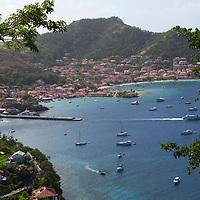 France, Guadeloupe, Les Saintes. Sailing and yachting bay of Les Saintes on Terre-de-Haut island, Guadeloupe.