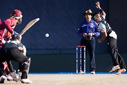 © Licensed to London News Pictures. 01/10/2012. New Zealander Ronnie Hira bowling during the T20 Cricket World super 8's match between New Zealand Vs West Indies at the Pallekele International Stadium Cricket Stadium, Pallekele. Photo credit : Asanka Brendon Ratnayake/LNP
