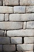Wall in Machu Pichu, Cusco Region, Urubamba Province, Machupicchu District in Peru, South America