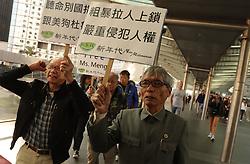 December 18, 2018 - Hong Kong, CHINA - Man dressed in Chinese national costume march to the Canadian Consulate General with his fellow pro-China demonstrators calling for immediate releasing of Meng Wanzhou.Dec-18,2018 Hong Kong.ZUMA/Liau Chung-ren (Credit Image: © Liau Chung-ren/ZUMA Wire)