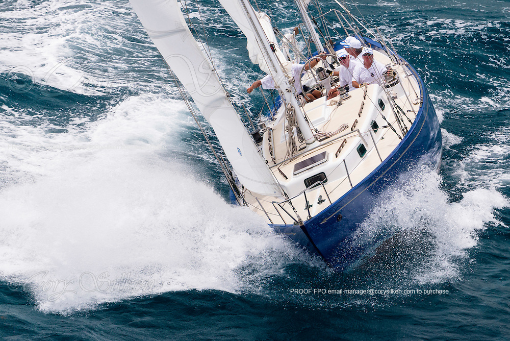 Frolic sailing in the Antigua Classic Yacht Regatta, Butterfly Race.
