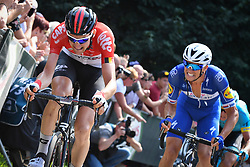 August 19, 2018 - Geraardsbergen, BELGIUM - Belgian Tim Wellens of Lotto Soudal pictured in action at the Muur Kapelmuur during the final stage of the Binkcbank Tour cycling race, 209,5 km from Lacs de l'Eau d'Heure to Geraardsbergen, Belgium, Sunday 19 August 2018. BELGA PHOTO DAVID STOCKMAN (Credit Image: © David Stockman/Belga via ZUMA Press)