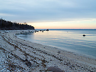 Truman's Beach on the Long Island Sound, owned and maintained by the Orient-East Marion Park District, Long Island, New York