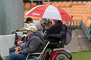 Off for rain at Grace Rd during the Specsavers County Champ Div 2 match between Leicestershire County Cricket Club and Gloucestershire County Cricket Club at the Fischer County Ground, Grace Road, Leicester, United Kingdom on 18 June 2019.