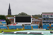 View across the ground before the Vitality T20 Blast North Group match between Yorkshire Vikings and Leicestershire Foxes at Emerald Headingley Stadium, Leeds, United Kingdom on 2 September 2020.