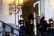 Koning Willem Alexander en Koningin Maxima ontvangen  de delegatieleiders van de Nuclear Security Summit (NSS) voor een diner op Paleis Huis Ten Bosch in Den Haag.<br /> <br /> King Willem Alexander and Queen Maxima receive the heads of delegation of the Nuclear Security Summit (NSS) for a dinner at the palace Huis Ten Bosch in The Hague.<br /> <br /> Op de foto / On the photo:  Amerikaanse president Barack Obama / U.S. President Barack Obama