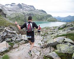 25.07.2015, Rodolfshütte, Uttendorf, AUT, Grossglockner Ultra Trail, 50 km Berglauf, im Bild Michael Kabicher (AUT, 3. Platz bei Rudolfshütte) // 3rd place at Rudolfshut Michael Kabicher of Austria during the Grossglockner Ultra Trail 50 km Trail Run from Kals arround the Grossglockner to Kaprun. Uttendorf, Austria on 2015/07/25. EXPA Pictures © 2015, PhotoCredit: EXPA/ Johann Groder