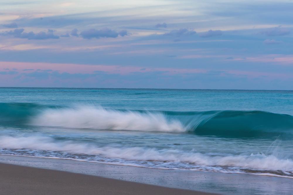 Jan. 9, 2019: The waves crash on shore at Juno Beach Pier in Juno Beach, FL.