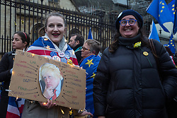 London, UK. 30 January, 2020. Pro-EU activists from SODEM (Stand of Defiance European Movement) hold a party outside Parliament on the eve of Brexit Day on the theme of 'Party like there's no tomorrow'.