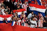 Photo: Richard Lane.<br />Wales v Paraguay. International Friendly. 01/03/2006. <br />Paraguay fans.
