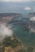 Flying out of Mombasa to Manda Island airport, the closest air access to Lamu, Kenya.