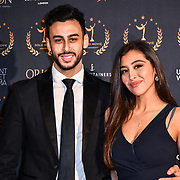 Fady Elsayed,Rania Elewa arrivers at Gold Movie Awards at Regents Street Theatre, on 9th January 2020, London, UK.