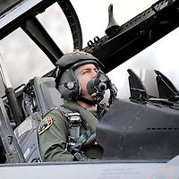 """Kleine Brogel, Belgium 14 March 2008<br /> 31 Tiger squadron of the Belgian Air Force. <br /> Pilot's name: """"John"""".<br /> The primary task of the squadron is taking out ground targets by 'dumb' unguided bombs or by precision bombardments, this during day and night.<br /> Also a great part of training is dedicated to """"air-to-air engagements"""" (intercepting / destroying of hostile aircraft), to be able to operate under every conflict-scenario.<br /> Photo: Ezequiel Scagnetti"""