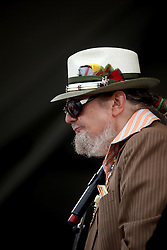 "29 April 2012. New Orleans, Louisiana,  USA. <br /> New Orleans Jazz and Heritage Festival. <br /> Rock and Roll Hall of Famer and multiple Emmy winner Dr John. (Malcolm John ""Mac"" Rebennack, Jr)<br /> Photo credit; Charlie Varley/varleypix.com"