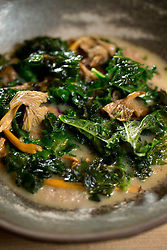 Shiitake mushrooms with quinoa furikake, at The Progress restaurant, Tuesday, Dec. 15, 2015, in San Francisco, Calif. (Photo by D. Ross Cameron)