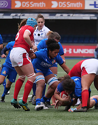 February 2, 2020, Cardiff, United Kingdom: Silvia Turani (Italy) seen in action during the women's Six Nations Rugby between wales and Italy at Cardiff Arms Park in Cardiff. (Credit Image: © Graham Glendinning/SOPA Images via ZUMA Wire)