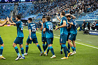 SAINT PETERSBURG, RUSSIA - NOVEMBER 04: Aleksandr Yerokhin celebrates his goal for Zenit St Petersburg during the UEFA Champions League Group F stage match between Zenit St. Petersburg and SS Lazio at Gazprom Arena on November 4, 2020 in Saint Petersburg, Russia.(Photo by MB Media)