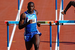 Ladji Doucouré FRA in action during Olympics Games Athletics day 12 on August 24, 2004 in Olympic Stadion Spyridon Louis, Athens.