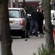 NLD/Amsterdam/20080221 - Ruud de Wild en partner Aafke Burggraaff nemen afscheid van een vriend